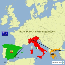 Map Of Germany Today.Troy Today Etwinning Project Map Created By Galandreas3012 Map