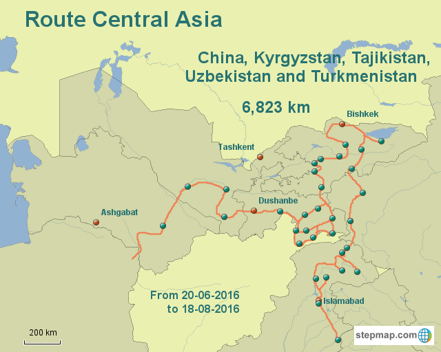 Central Asia -- Amsterdam to Anywhere