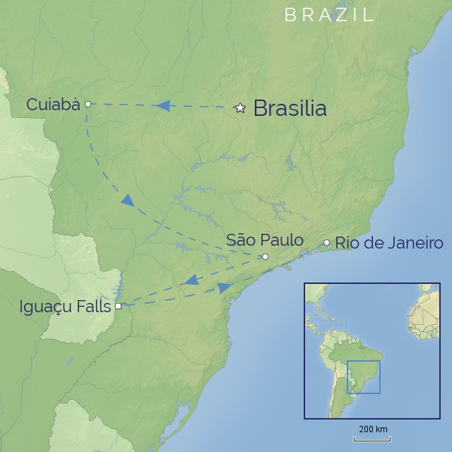 tour LATIN AMERICA BRAZIL wildlife & waterfalls