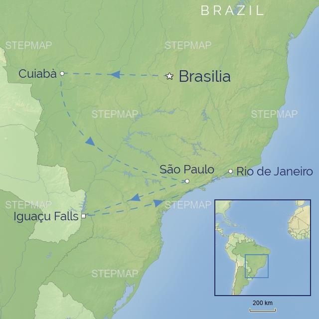 tour LATIN AMERICA BRAZIL wildlife & waterfalls