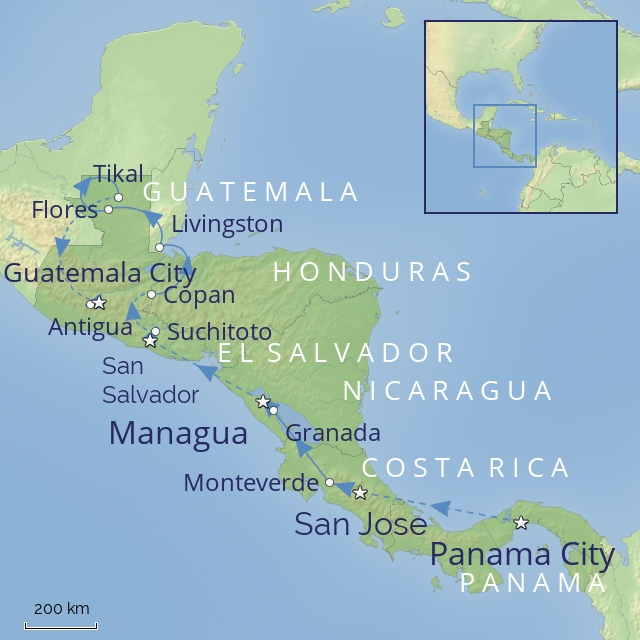 Tour - Central America - Splendours of Central America