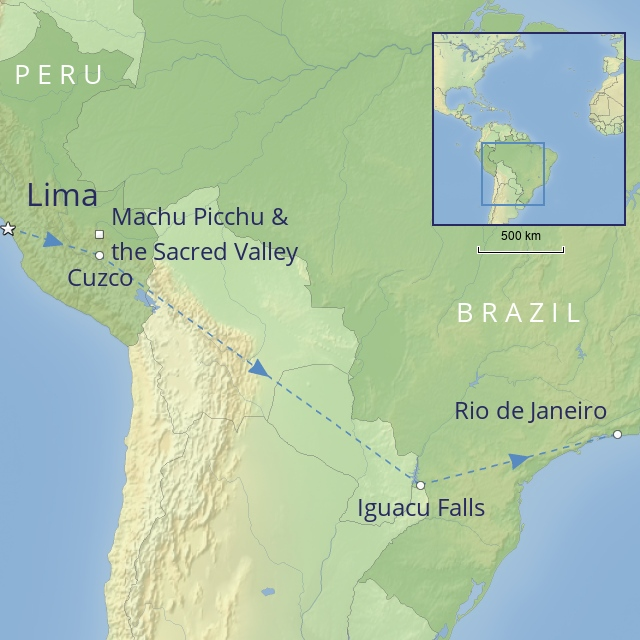 Tour - South America - Peru - Peru, Iguacu & Rio