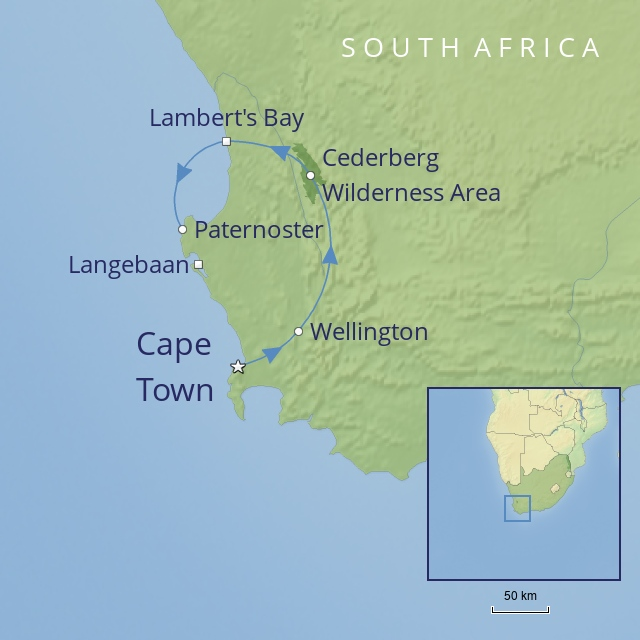 TOUR - AFRICA - SOUTH AFRICA - WEST COAST ADVENTURE