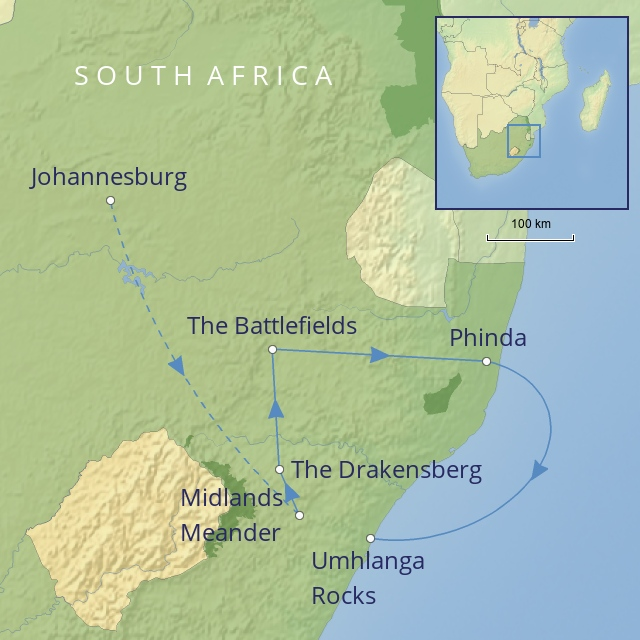 TOUR - AFRICA - SOUTH AFRICA - A Drive Through KwaZulu-Natal