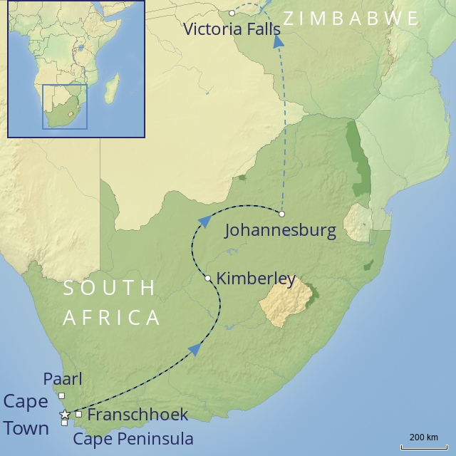 TOUR - AFRICA - SOUTH AFRICA - The Cape, Rovas Rail & Victoria Falls
