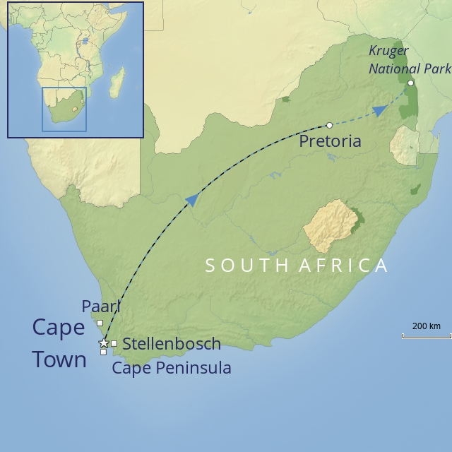 TOUR - AFRICA - SOUTH AFRICA - The Cape, The Blue Train & Kruger National Park