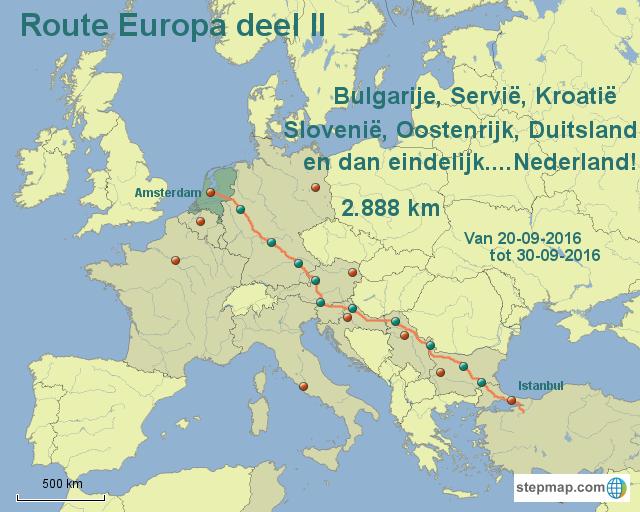 Route Europa Deel II