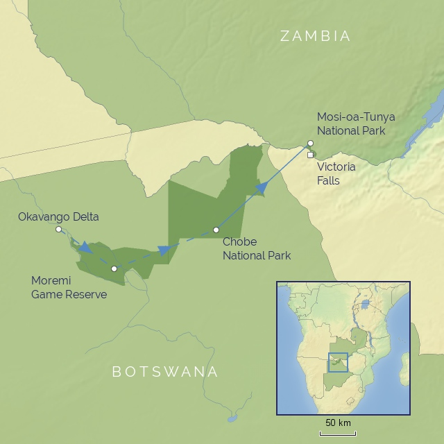 Tour - AFRICA - BOTSWANA - BOTSWANA - BOTSWANA AND VICTORIA FALLS