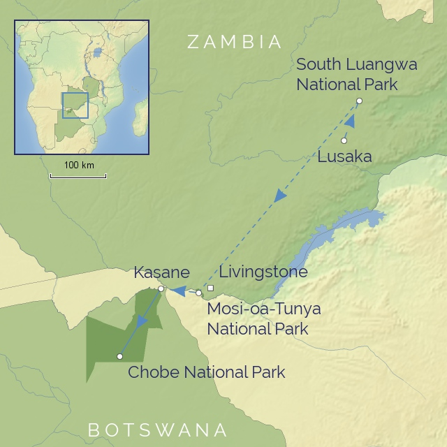Tour - AFRICA - BOTSWANA - BOTSWANA - BOTSWANA AND ZAMBIA THREE RIVERS
