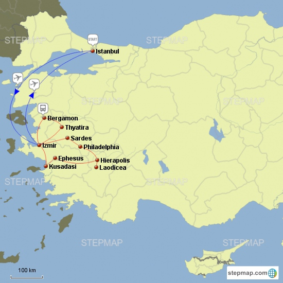 7 CHURCHES OF REVELATION WITH ISTANBUL
