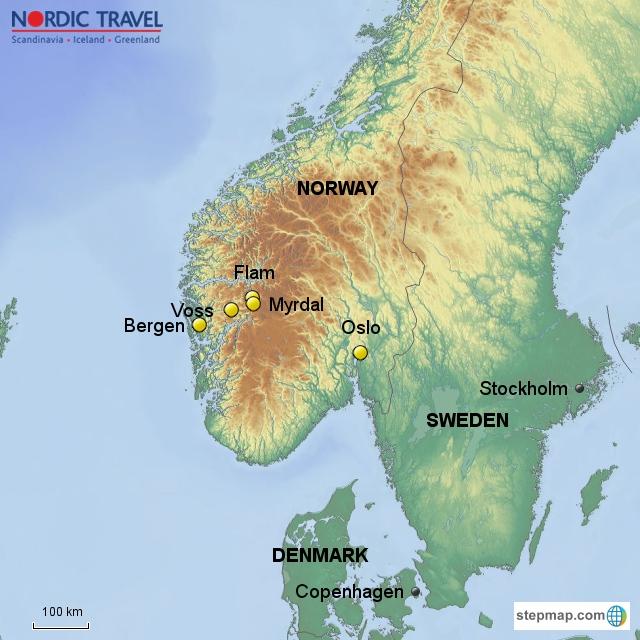 In A Nutshell - Norway nutshell map