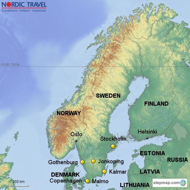 Sweden - Sweden map gothenburg