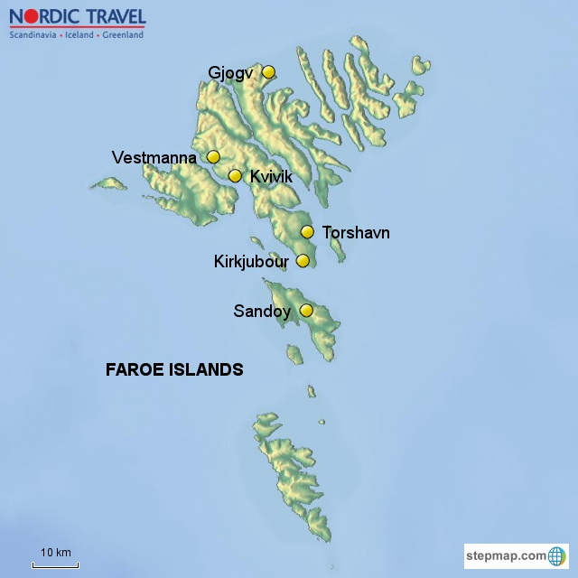 Explore ilulissat west greenland iceland the faroe islands discover the north atlantic faroe islands map publicscrutiny Gallery