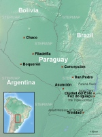 Paraguay Travel Guide Map