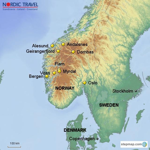 Geiranger Alesund Norway In A Nutshell - Norway map alesund