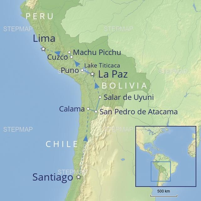 w-tour-latin america, chile, bolivia & Peru-a journey through the andes