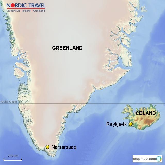 Iceland And Greenland World Map.Narsarsuaq South Greenland Nature Viking History Nordic Travel