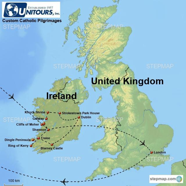 Blarney Ireland Map.0602aa8 Catholic Ireland And London Pilgrimage 9 Days From Chicago