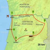 Douro and Beiras PO10 square web map