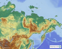 Eastern Russia with borders