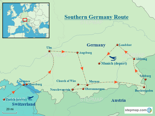 Southern Germany Route