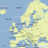Europe: Countries and Bodies of Water