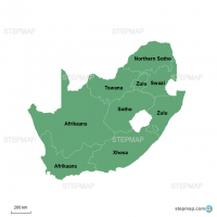 The Most Spoken Language in the Provinces of South Africa