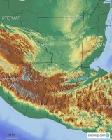 Guatemala, with borders