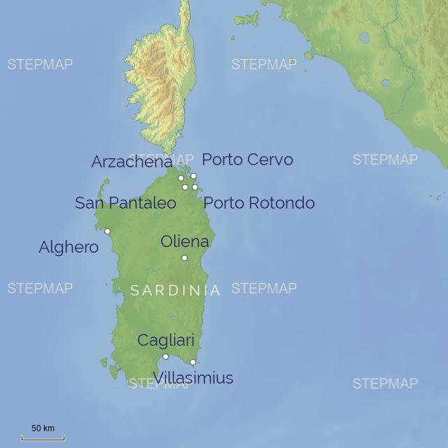 subregion EUROPE ITALY SARDINIA