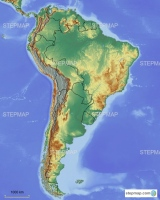 South America with borders