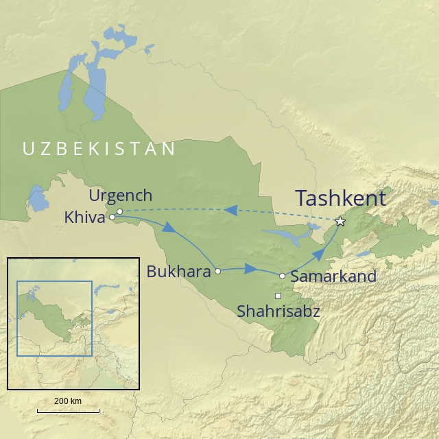 W 2019 Middle East Uzbekistan heart of Central Asia