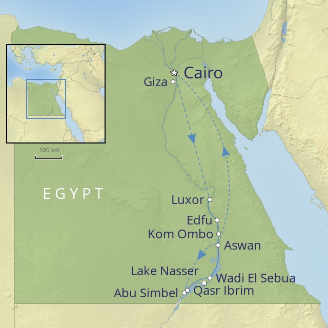W 2019 Middle East Egypt Egyptian grand tour nile cruise