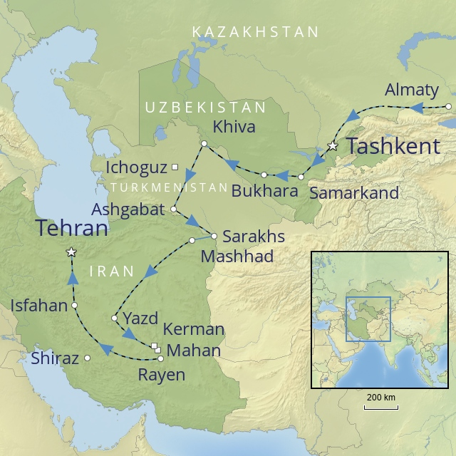 W 2019 Middle East Iran Silk Road and Persia aboard the golden eagle