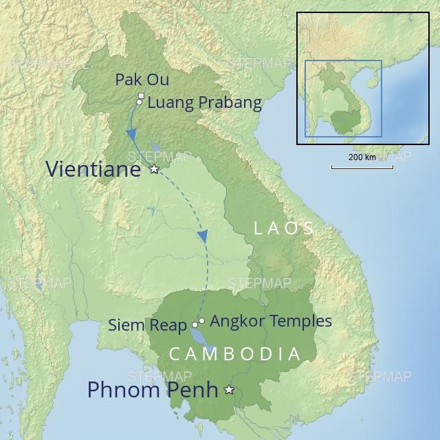 W FAR EAST CAMBODIA & LAOS LAOS & CAMBODIA TEMPLES AND TREASURES