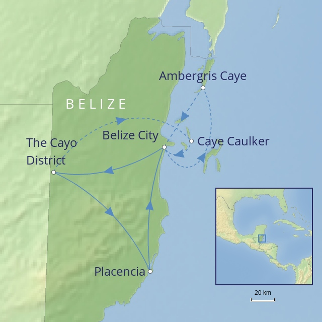 W - CENTRAL AMERICA - BELIZE - Rainforest, Reef & Ruins