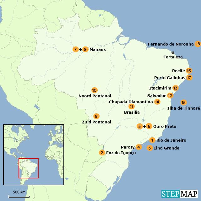 Brazilie overzicht bouwstenen